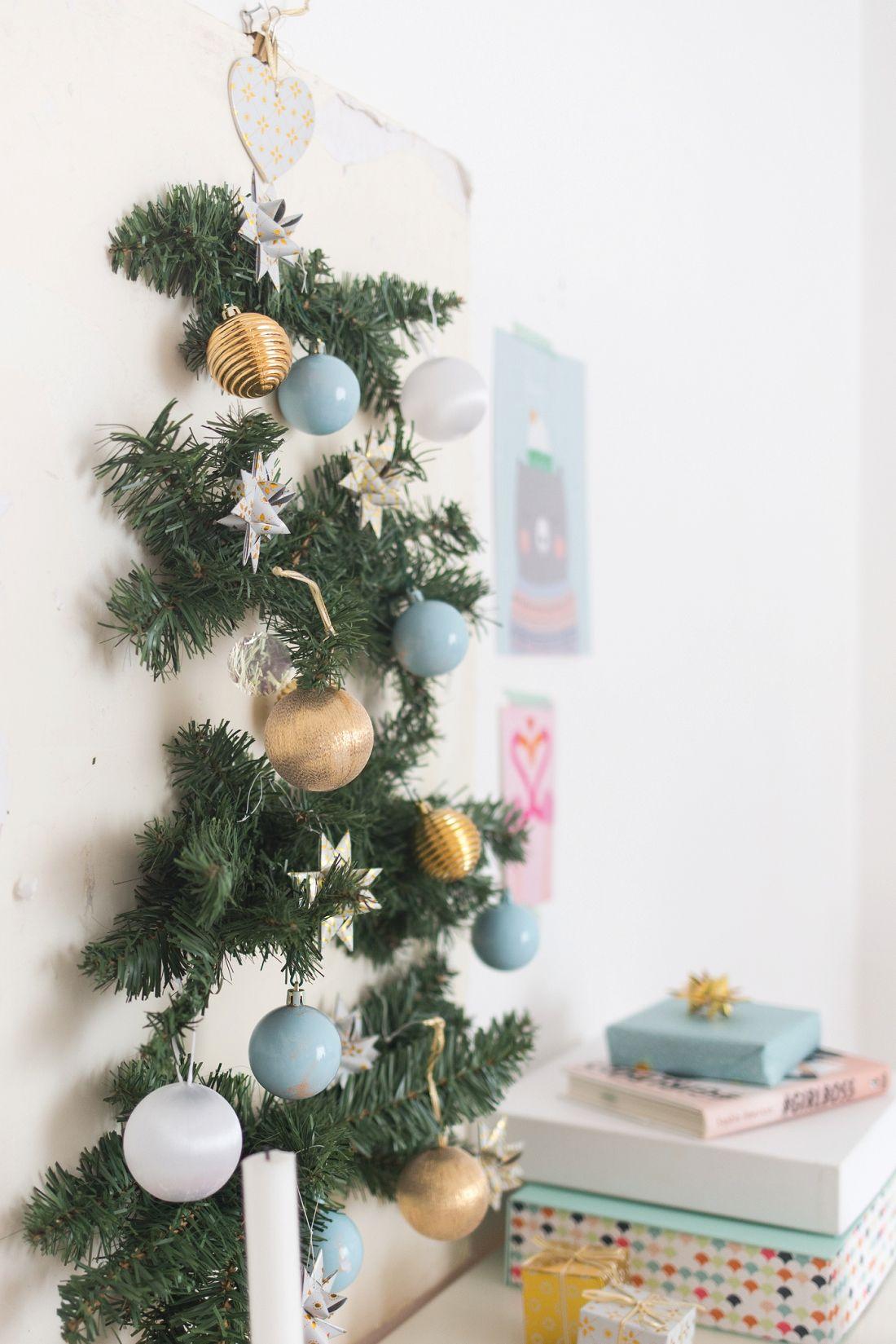 How To Make A Stylish Wall Tree For Small Space Living. Small Space  LivingSmall SpacesHoliday FunHoliday DecorHoliday IdeasDiy TutorialChristmas  ...
