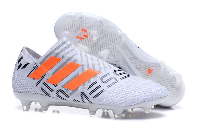 9d9a4fbaa824 Men Adidas Nemeziz Messi 17+ 360 AG 2018 Word Cupility FG 2018 Word Cup  White Orange Black BY2402
