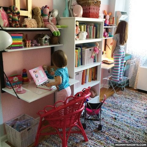 The Ultimate Small Shared Bedroom For Two Growing Girls Mommy Shorts Small Shared Bedroom Shared Girls Room Shared Bedroom