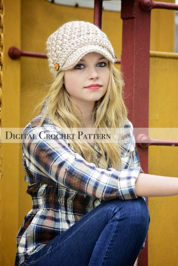 Crochet Pattern / Women\'s Cross Stitch Hat Pattern 002 & Children\'s ...