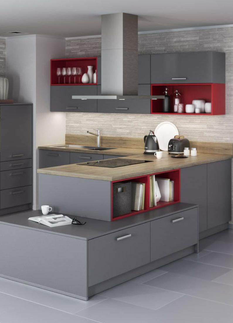 Moderne küchen u-form holz  Küchen in U-Form: Bilder, Beispiele, Vor- und Nachteile für moderne ...