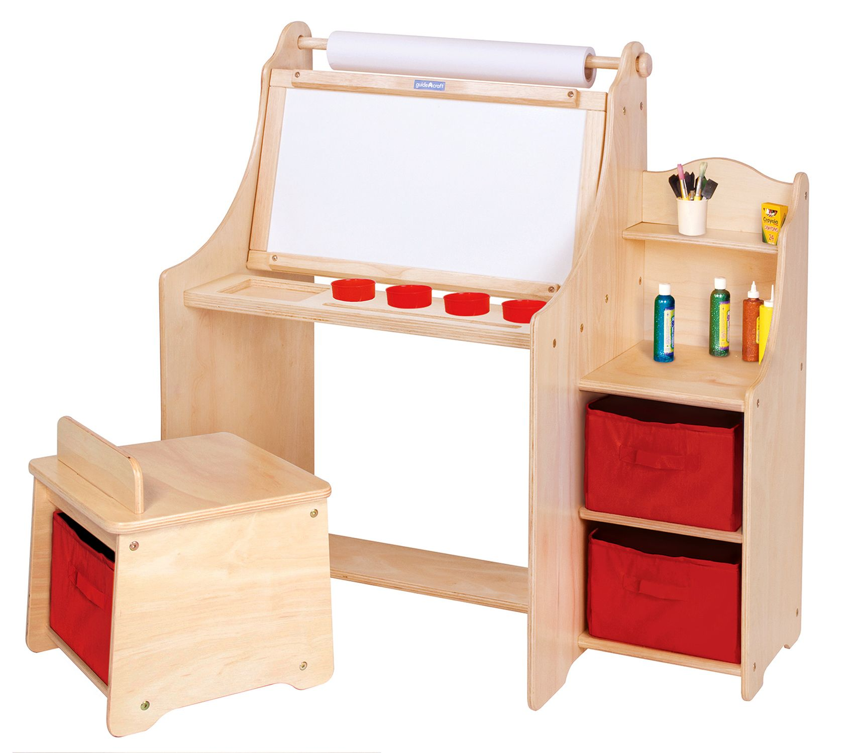 Kids Art Table From Guide Craft