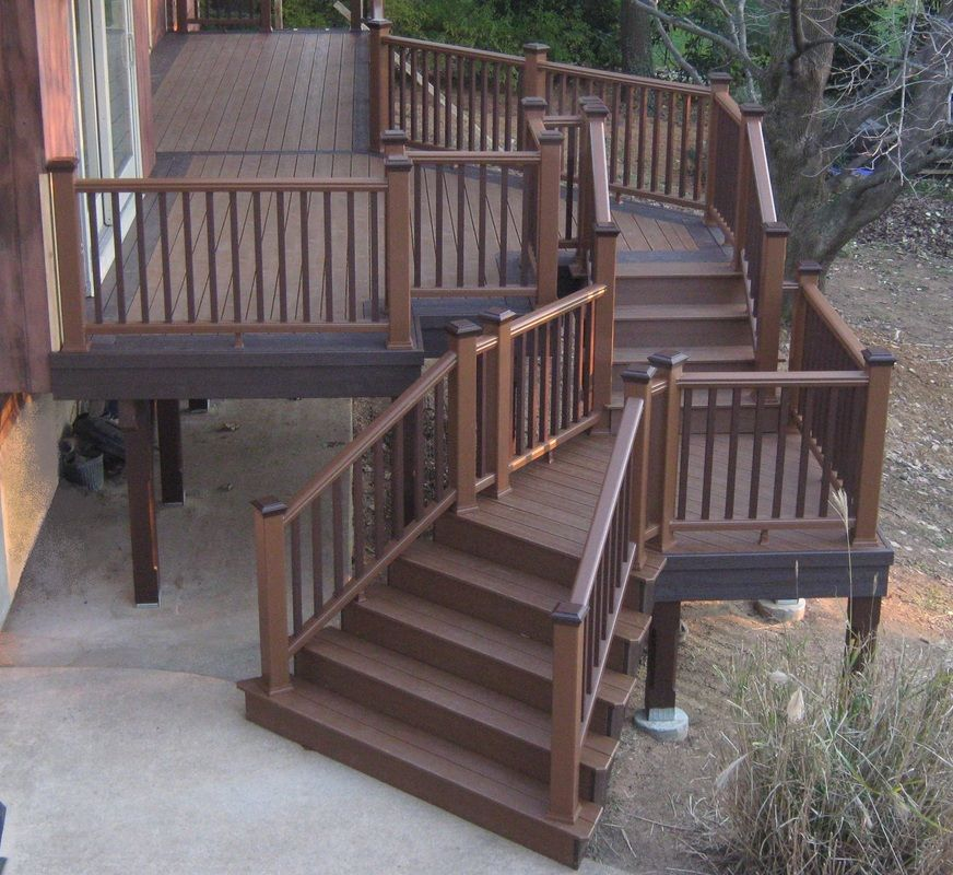 Legendary builders deck trex transcend composite decking for Composite decking and railing