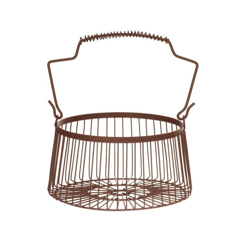 Small Round Wire Basket | Wire basket, Wire storage and Storage baskets
