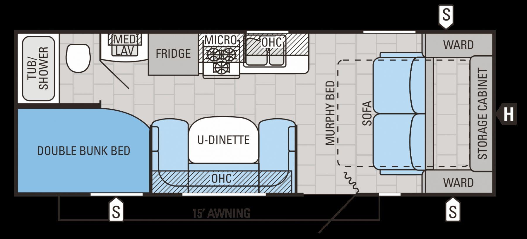 24 Foot Rv Floor Plans Travel Trailer Floor Plans Rv Floor