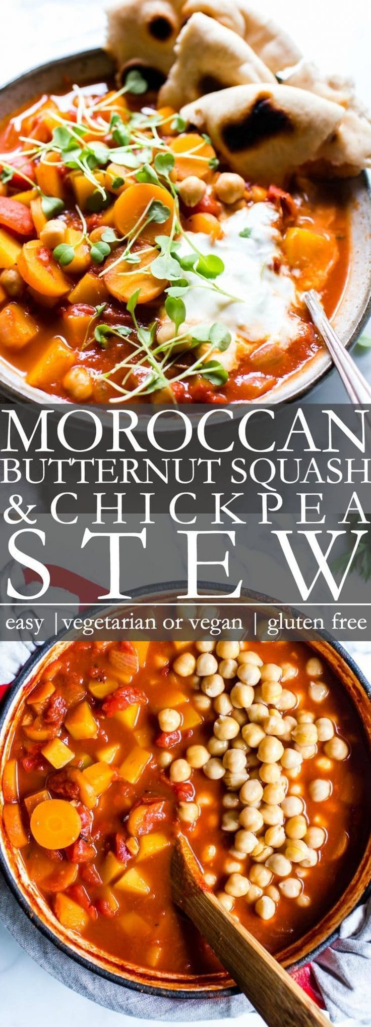 Moroccan Butternut Squash Chickpea Stew | Vanilla And Bean