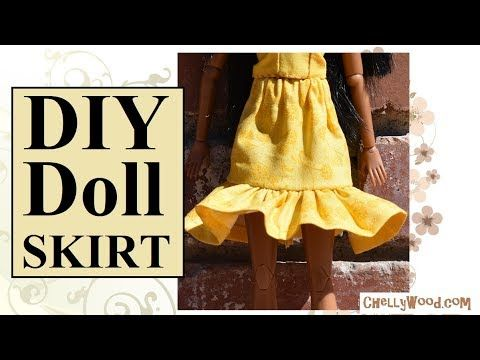FREE Liv Doll Clothes Pattern and Tutorial: Skirt - YouTube | Spin ...