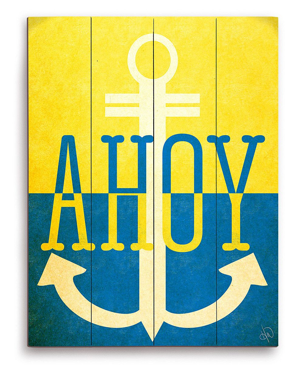 Do graphic --- Look at this Yellow & Blue \'Ahoy\' Wall Art on #zulily ...