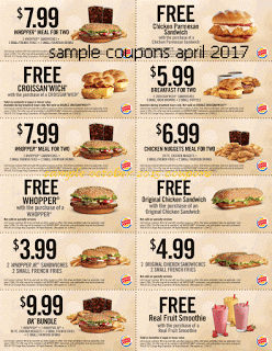 Burger King Mulhouse Carte.Burger King Coupons For April 2017 食べ物 その他 Kfc