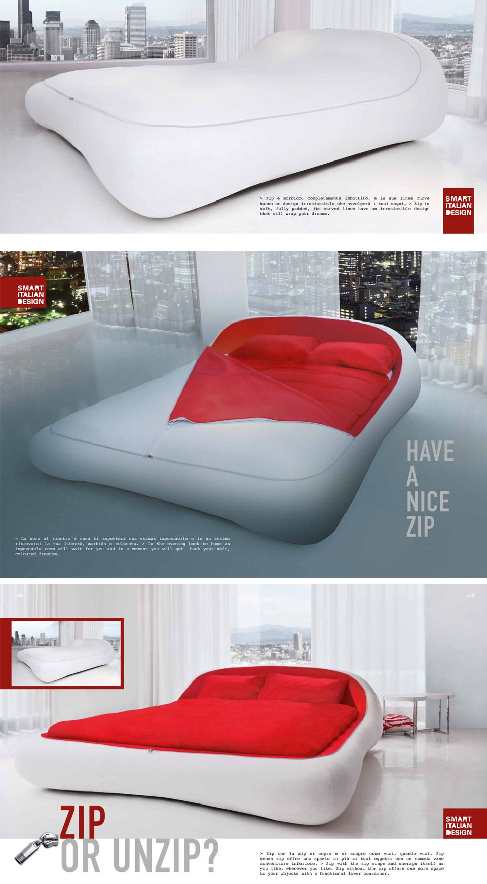 Letto Zip Bed Florida Smart Italian Design Svpply Cama