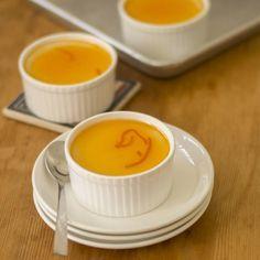 Baked Vanilla Yogurt with Orange Glaze Sauce / 5 Ingredient #vanillayogurt