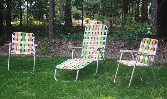 Charmant Retro Aluminum Woven Folding Patio Outdoor Furniture