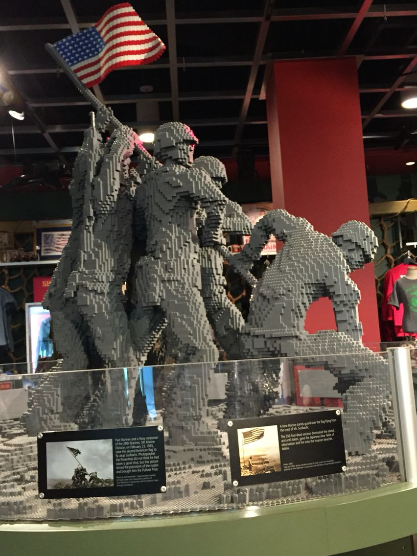 Lego Iwo Jima memorial. 3D sculpture made with Legos by a ...