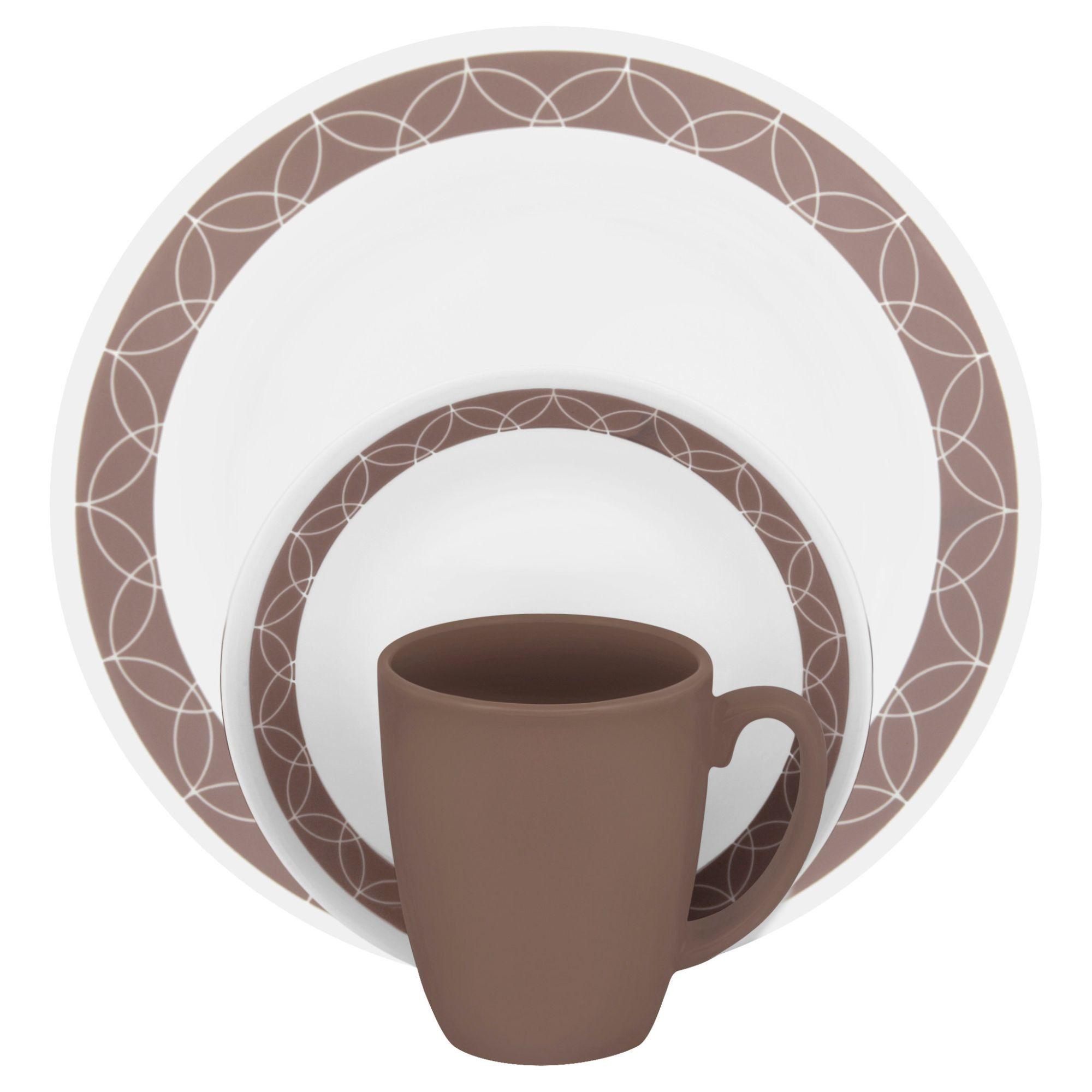 Livingware 16 Piece Dinnerware Set Service for 4  sc 1 st  Pinterest & Livingware 16 Piece Dinnerware Set Service for 4 | Dinnerware ...