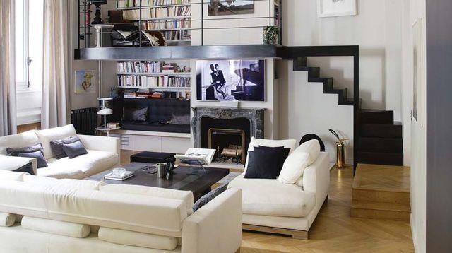 Appartement Paris Rénové Par Larchitecte Isabelle Stanislas - Deco haussmannien moderne pour idees de deco de cuisine
