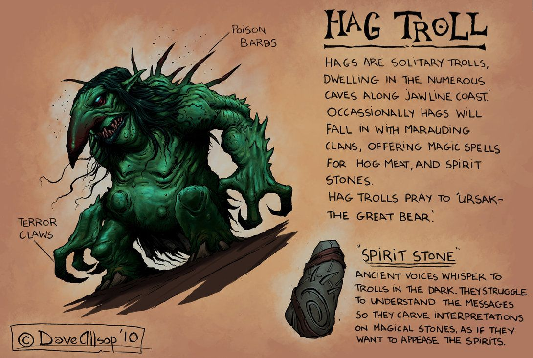 Hag Troll Concept by DaveAllsop on deviantART