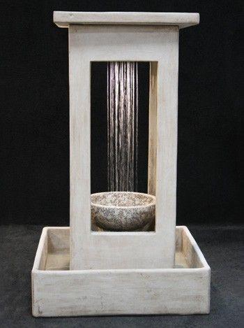 Smooth Center Rain Fountain With Bowl And Square Basin In 2020 Aussenbrunnen Zimmerbrunnen Springbrunnen