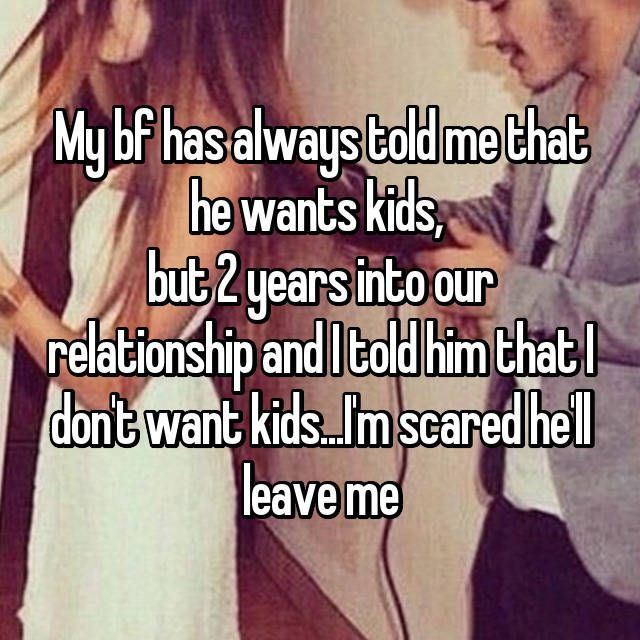 don t want kids dating