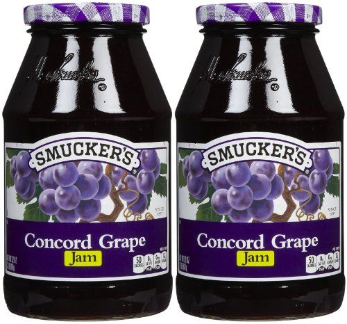 Homemade concord grape jam tastes nothing like sticky-sweet supermarket grape jelly. It has a deep, concentrated grape flavor, and is equally tart and sweet. A jar of this jam would make an excellent fall harvest-inspired gift. Try it sandwiched between peanut butter cookies or swirled into banana bread batter.