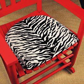 zebra print chair pad class animal skin patterns pinterest