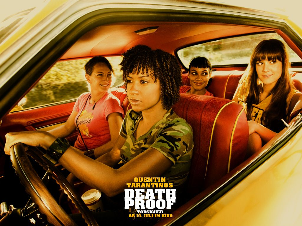 The 25 most badass characters in quentin tarantino rosario dawson tracie thoms and zo bell as the very angry drivers death proof girls death proof