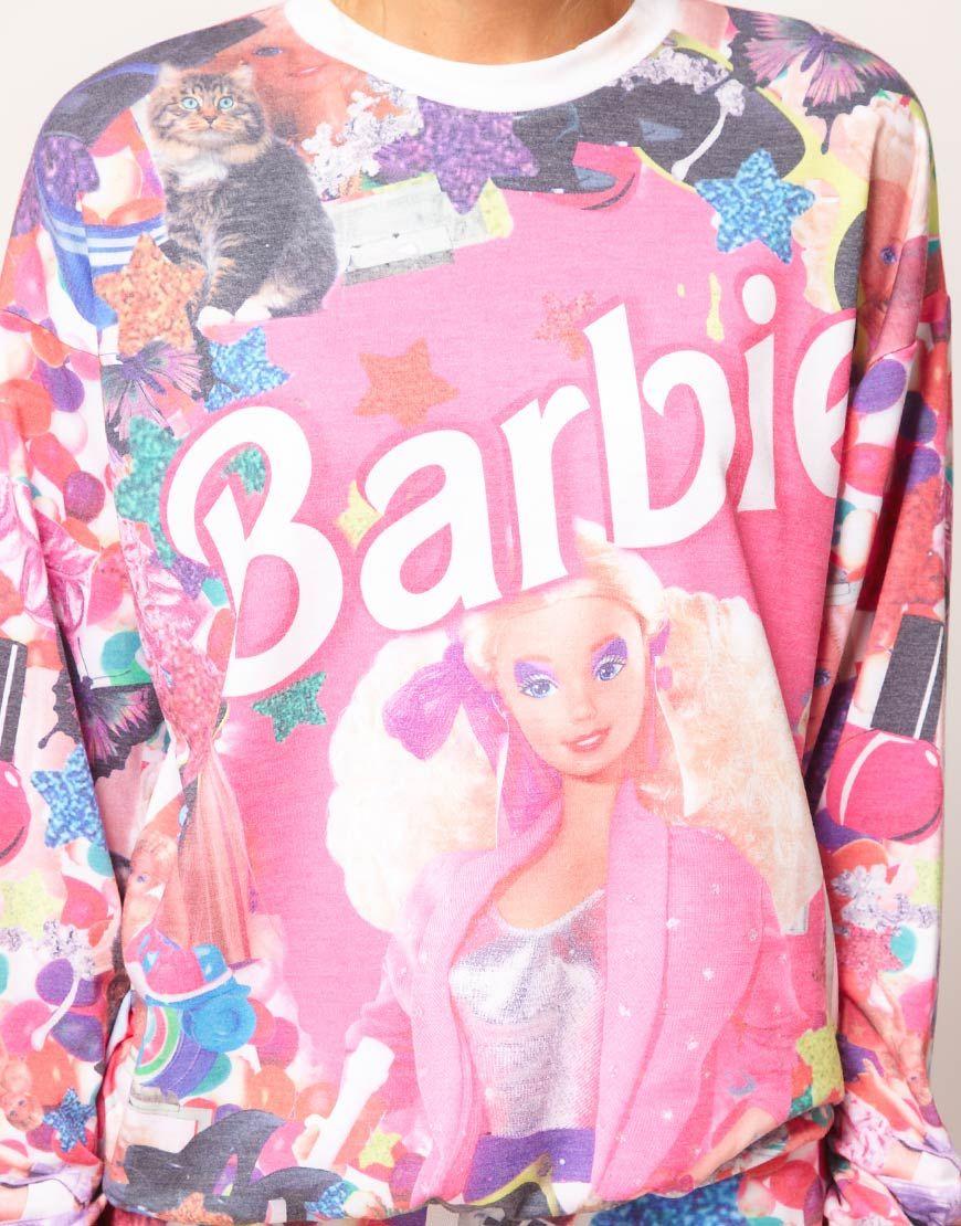 ASOS Sweatshirt in Barbie Print