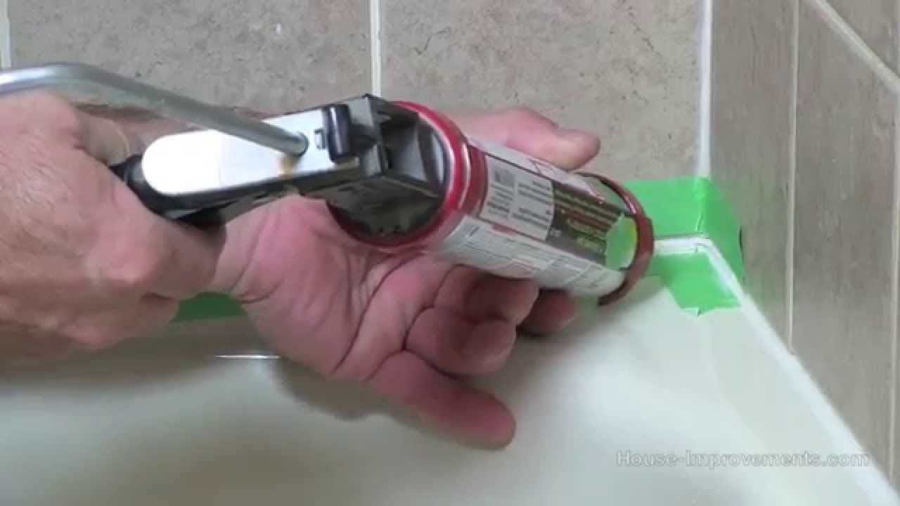 How to remove and apply silicone to a bathtub youtube