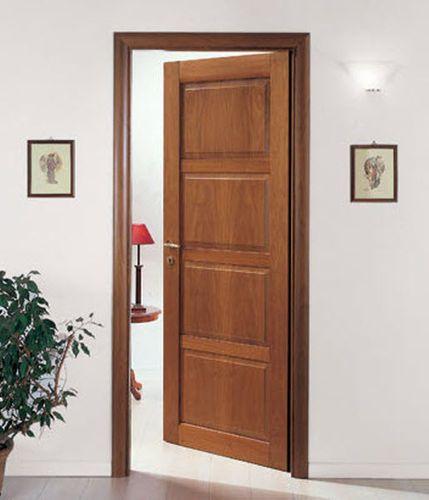 Puerta de interior abatible de madera cm 530 porte sjb for Puertas de madera interiores modernas