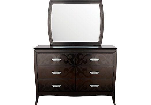 Belle Noir Dark Merlot Dresser Mirror
