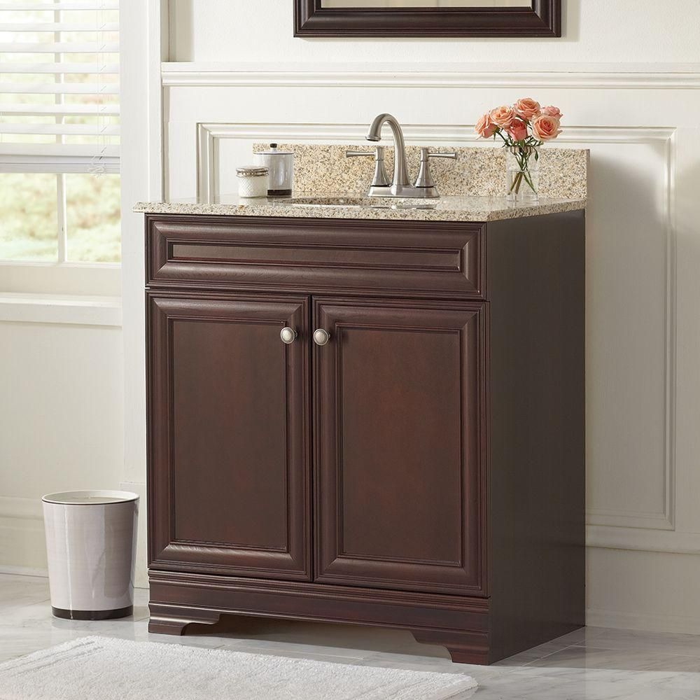 Home Decorators Collection Grafton 31 in Vanity in Crimson with