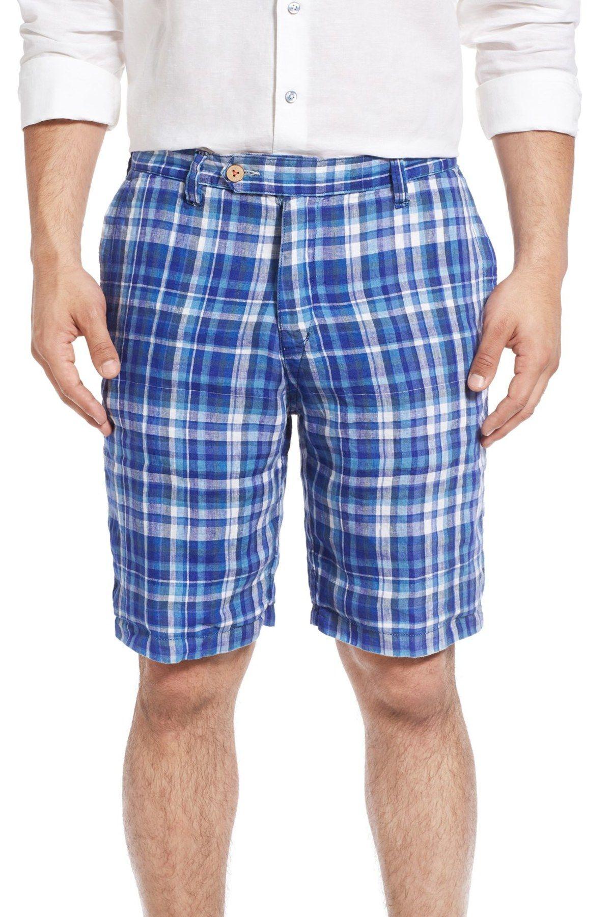 'Twofer' Reversible Linen Shorts