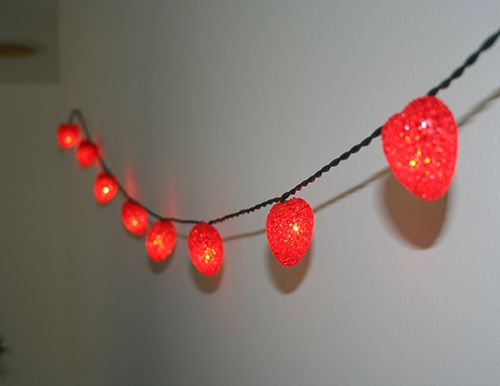 vday string lights - Valentine String Lights