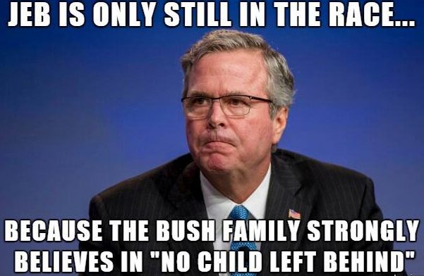 Jeb Is Only Still In The Presidential Race Because The Bush Family