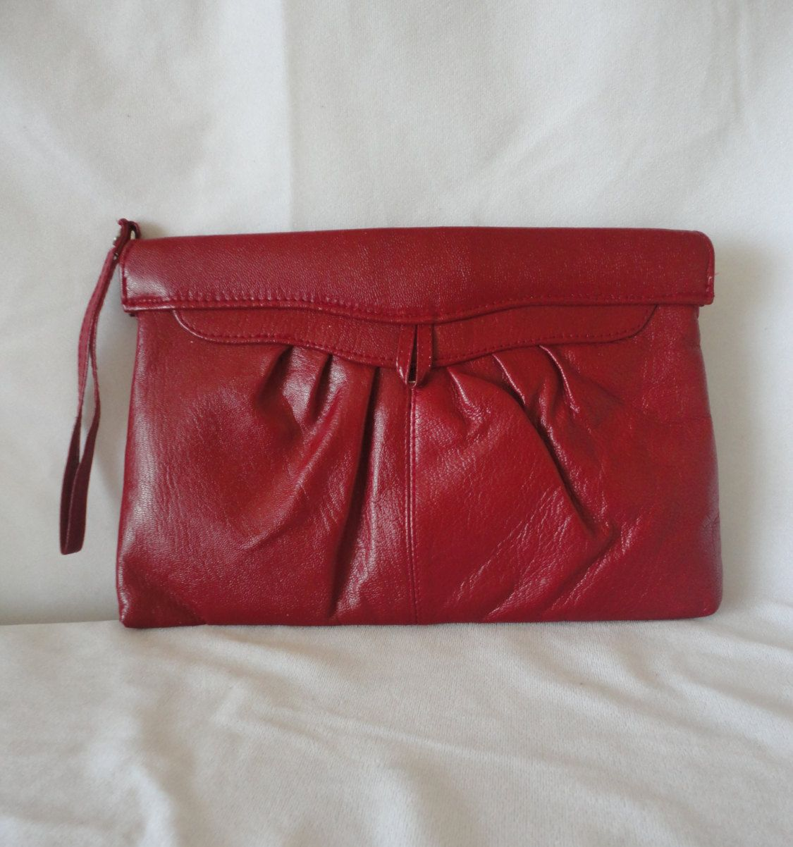 PreOwned Red Leather Clutch*******. by RamsesTreasure on Etsy