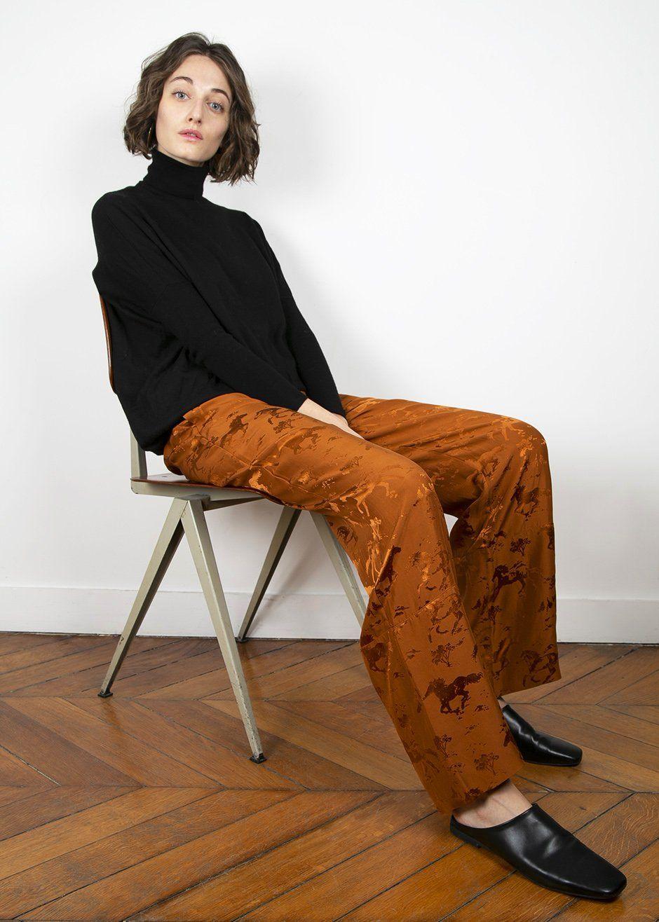 36a677b6fd3f Ganni Ackerly Silk Caramel Cafe Pants | M Y // S T Y L E | Pants ...