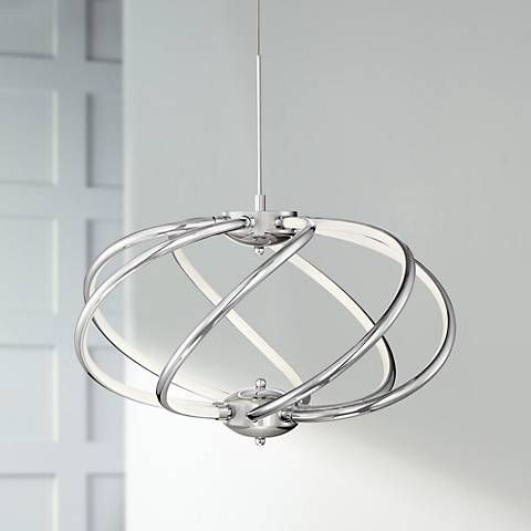 "Lamps Plus Pendant Lights Delectable Possini Euro Galaxy 19"" Wide Chrome Led Pendant Light  #9C689 Design Inspiration"