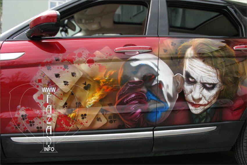 Профессиональная аэрография авто. Джокер. #batman ...