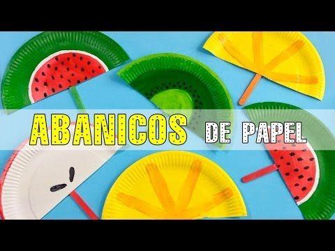 Abanicos de papel manualidades para ni os diy - Manualidades de ninos faciles ...
