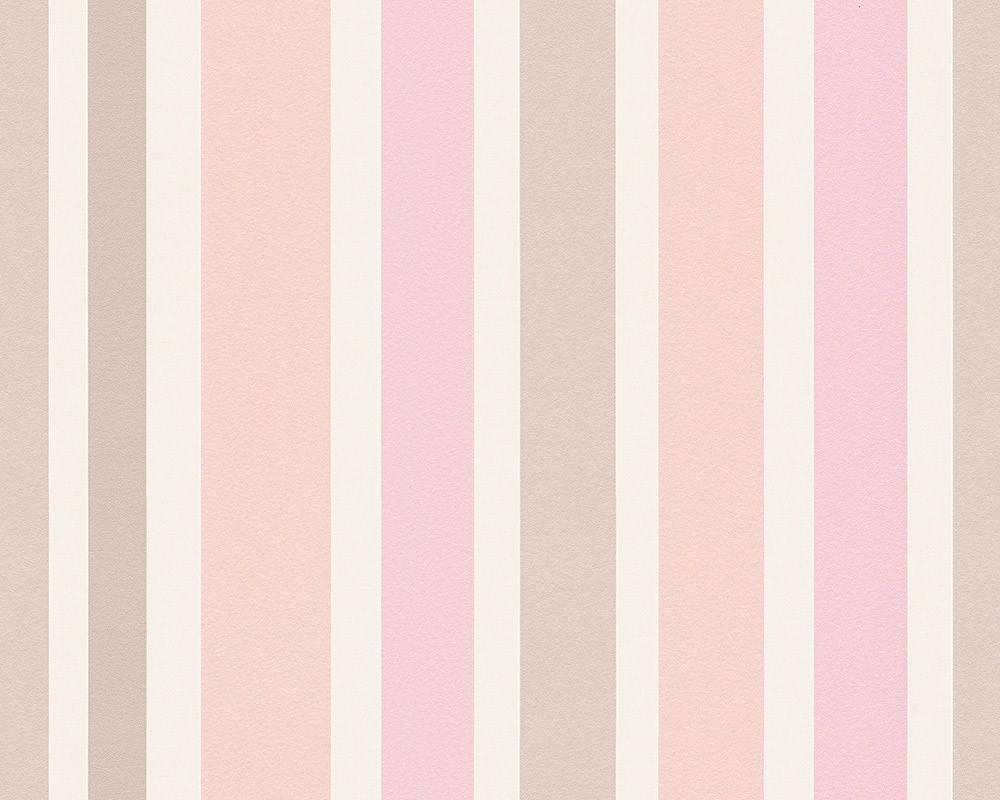 Esprit Home Tapete 302881: Tapete, Beige, Rosa, Weiß, Modern, Streifen,  Flur, Kinder, Küche, Schlafen, Wohnen, Kinderzimmer, Schlafzimmer,  Wohnzimmer