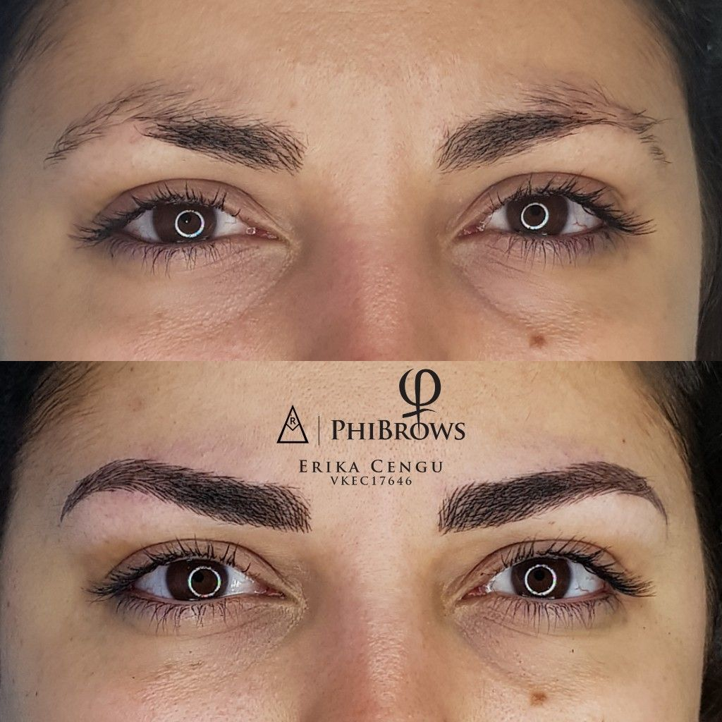 Correcting Shape And Filling Patchy Eyebrows Phibrows Royal Artist