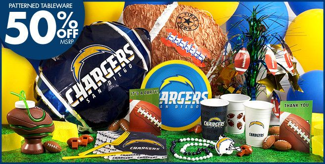NFL San Diego Chargers Party Supplies | Party supplies ...