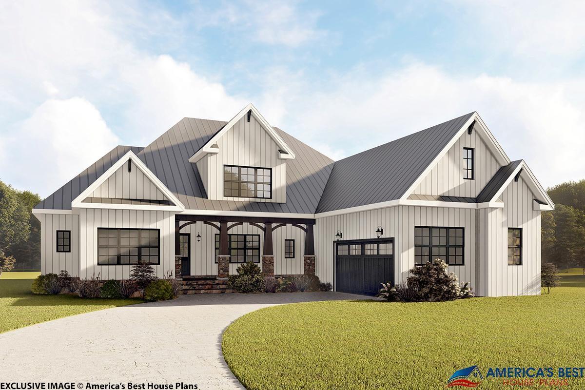 Modern Farmhouse House Plan 6849