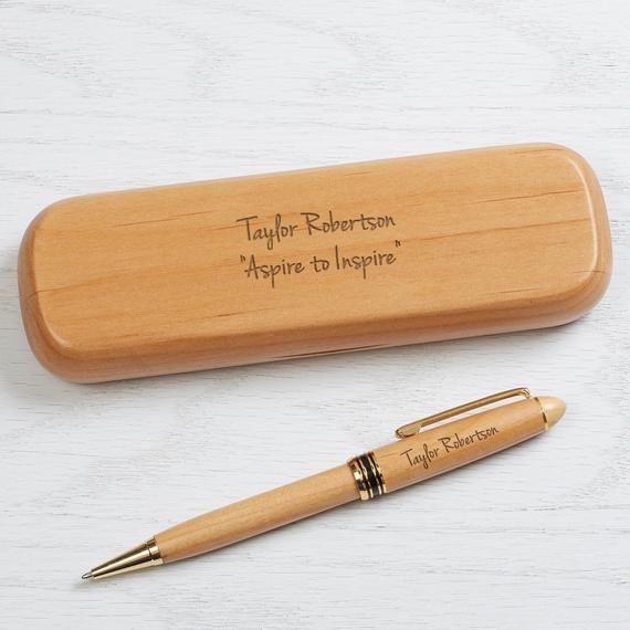 Engraved Alderwood Pen Set Gifts For