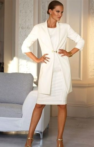 Shift dress and coat | second weddings/wedding renewal | Pinterest