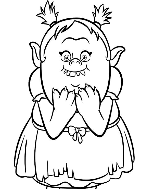 Trolls Bridget Coloring Page Trolls Coloring Pages Coloring Pages For Kids Craft Activities For Kids
