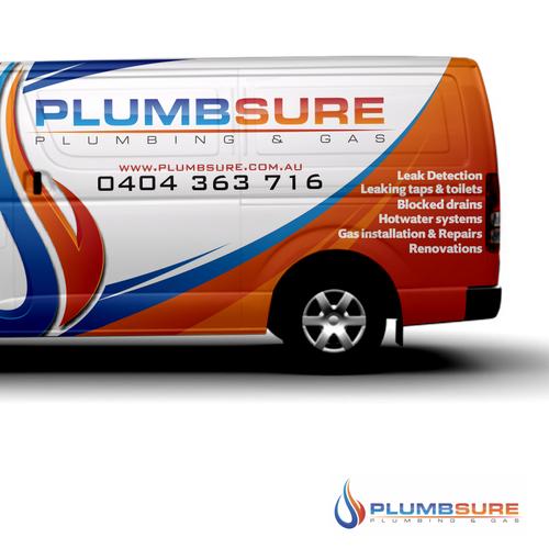 Design My Plumbing Van Logo Attached Car Truck Or Van Wrap