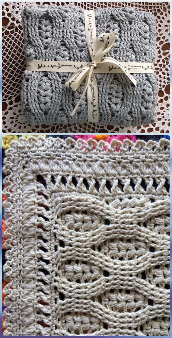 Crochet Wheat Stitch Baby Blanket Pattern - Crochet Wheat Stitch ...