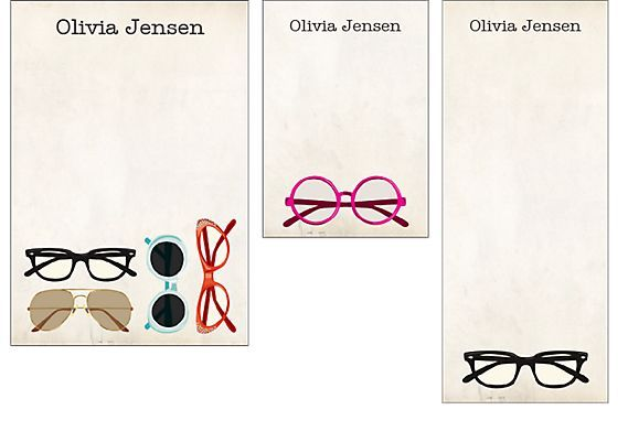 Glasses mixed notepads - paper source