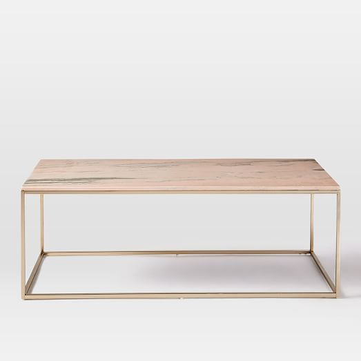 Incroyable Mira Coffee Table   Storm Pink | West Elm