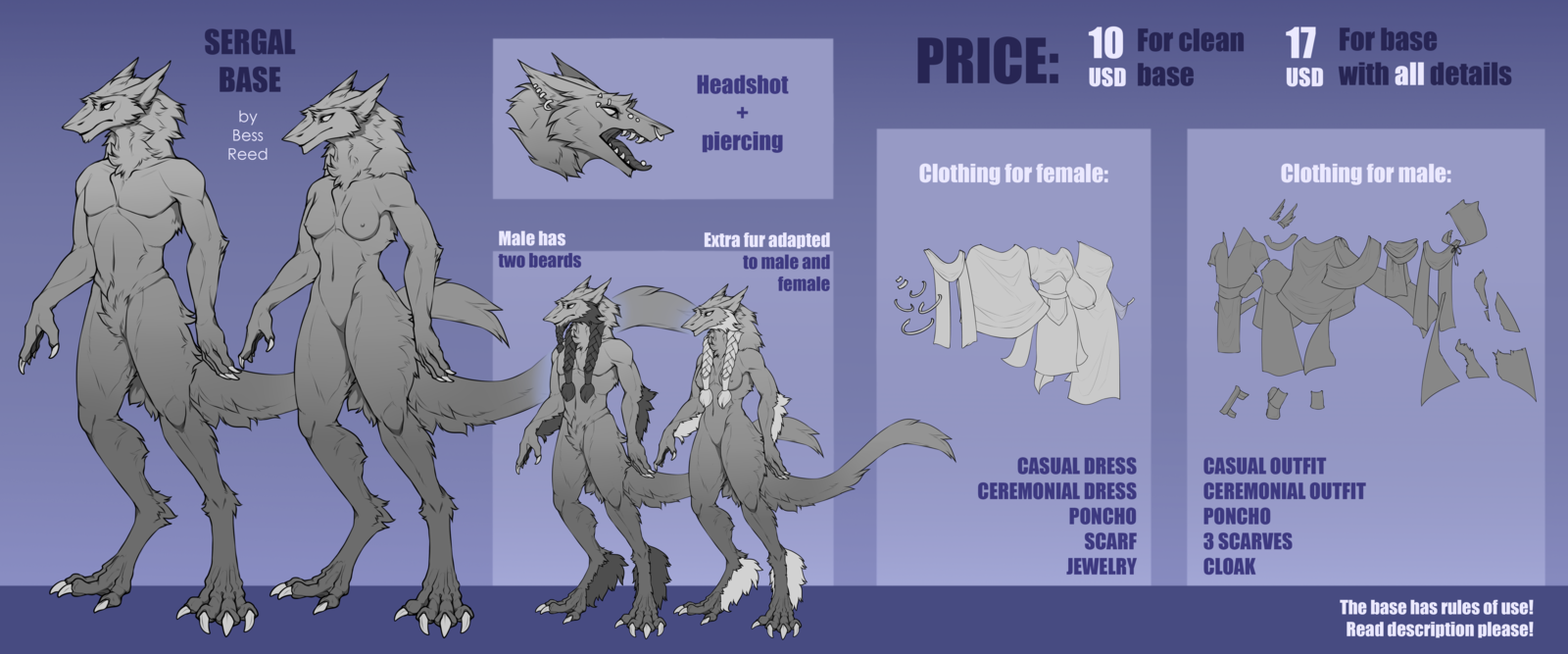 P2U Sergal Base} PRICE REDUCED: 7$ or 13$!!! by BessReed